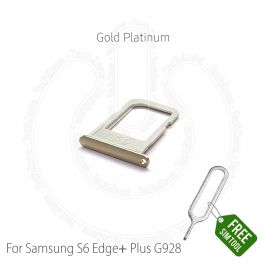 with Glue Card Camera Lens for Samsung Galaxy S6 Platinum Gold