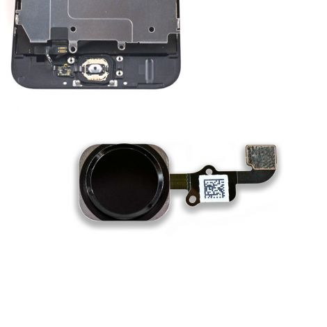 """Black Replacement Home Button Flex for Apple iPhone 6s 4.7"""" & iPhone 6s Plus 5.5"""""""