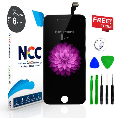 NCC ESR Black Accurate Colour Tested LCD Screen Display Digitizer for iPhone 6