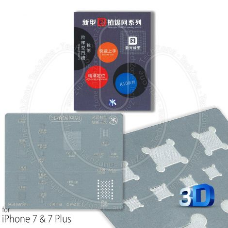A10 Direct Heat BGA 3D Stencil for Apple iPhone 7 & 7 Plus IC Reballing