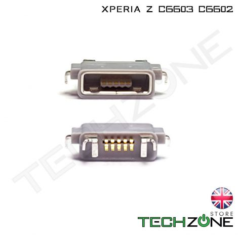 Micro USB Charging Port Charger Socket Connector for Sony Ericsson Xperia Z C6603 C6602 LT36i