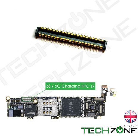 Charging Port FPC Flex Connector Dock J7 19Pin for iPhone 5S 5C Logic Board