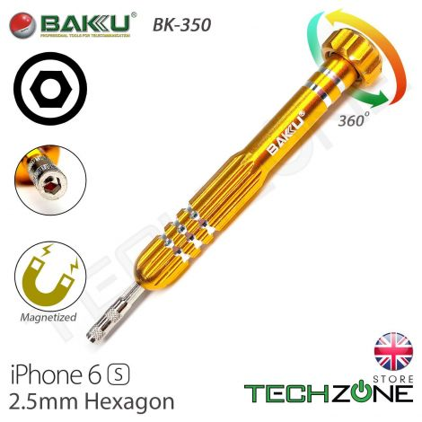 Baku BK-350 2.5 Hex Hexagon Nut Screwdriver for Apple iPhone 6s
