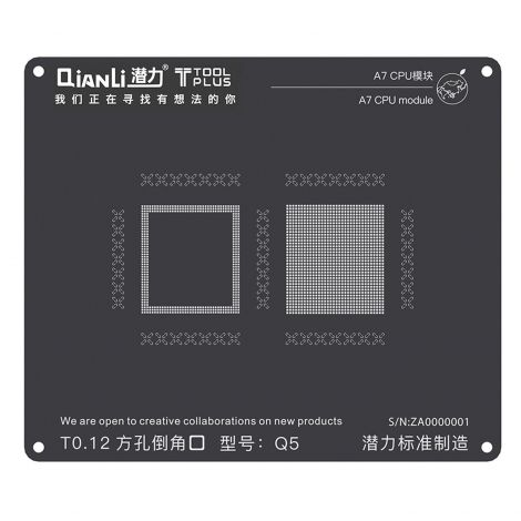 QianLi ToolPlus Black Direct Heat Stencil for iPhone & iPad A7 CPU Module