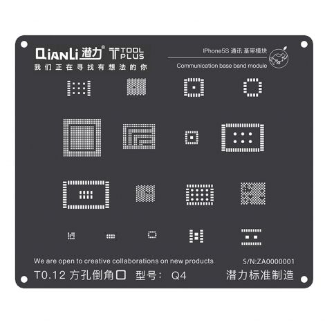 QianLi ToolPlus Black Direct Heat Stencil for iPhone 5S Communication BaseBand Module