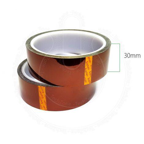 High Temperature Heat Resistant Kapton Polyimide Tape for BGA SMD Mobile Repairs Soldering [Width 30 mm, Length 33 m]