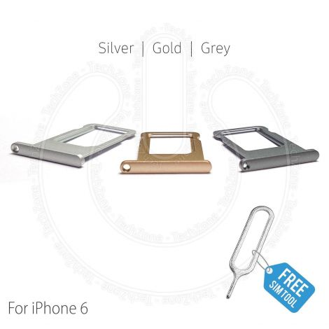 SIM Card Tray Holder Slot for Apple iPhone 6 (4.7'') & SIM Tray Ejector Tool