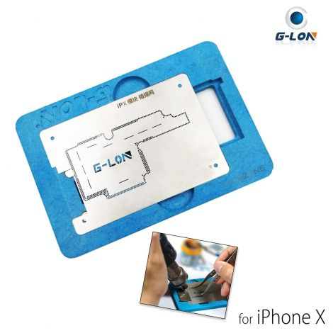 QIANLI G-LON Middle Layer Logic Board BGA Stencil Reballing Repair Platform Fixture for iPhone X