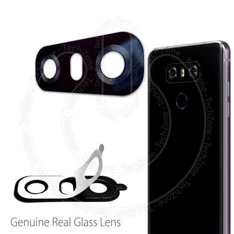For LG G6 H870 REAL GLASS Back Rear Camera Lens Cover With Adhesive Sticker