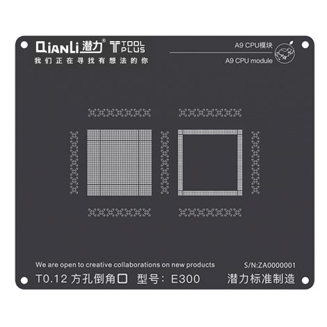 QianLi ToolPlus Black Direct Heat Stencil for iPhone & iPad A9 CPU Module
