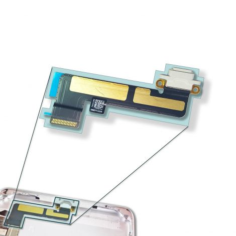 White Charging Port Charger Connector Flex Cable for Apple iPad Mini 1 2 3