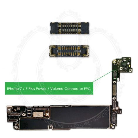 iPhone 7 & iPhone 7 PLUS Logic Board Power Volume FPC Connector Terminal J2201