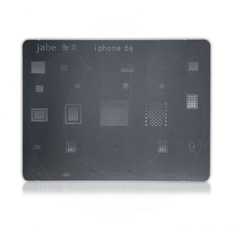 JABE Direct Heat BGA Stencil Metal Template for Apple iPhone 6S Reball IC Chip