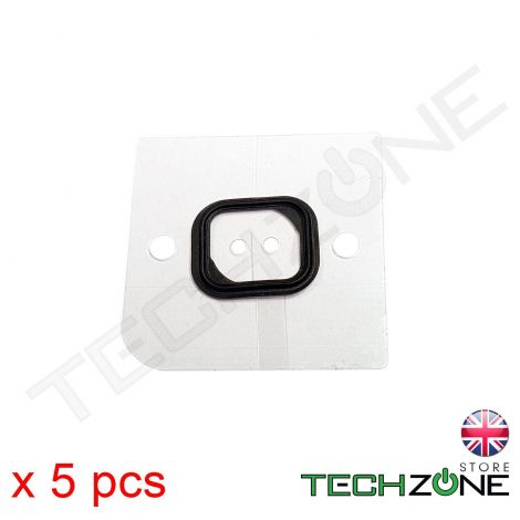 5 X Self Adhesive Rubber Gasket Seal for Apple iPhone 5s & iPhone SE Home Button