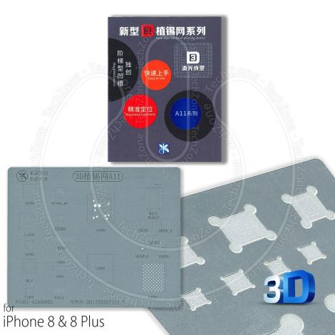 A11 Direct Heat BGA 3D Stencil for Apple iPhone 8 & 8 Plus IC Reballing