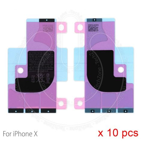 10 x Battery Adhesive Glue Tape Sticker Strip for Apple iPhone X