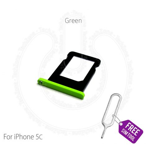 Replacement Nano Sim Card Holder Tray Slot for Apple iPhone 5c Green Models A1507 A1529 A1532 A1456 with Sim ejector tool