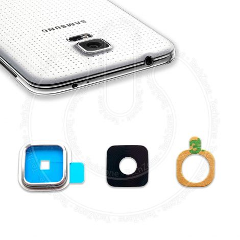 Rear Back Camera Glass Lens Frame Cover for SAMSUNG Galaxy S5 Neo G903 with Adhesive
