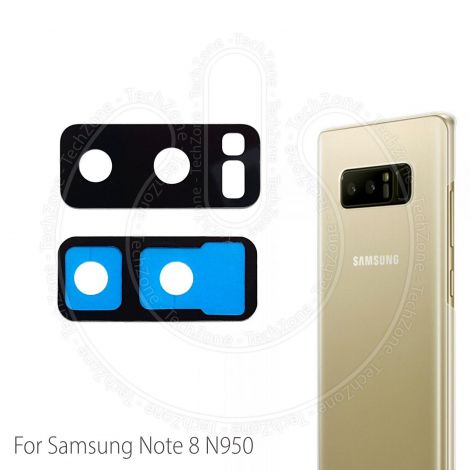 Rear Back Camera Glass Lens Frame Cover with Adhesive for Samsung Galaxy Note 8 SM-N950