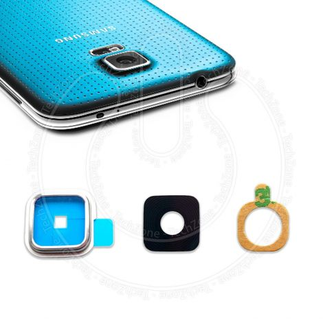 Rear Back Camera Glass Lens Frame Cover for SAMSUNG Galaxy S5 G900 G901 with Adhesive