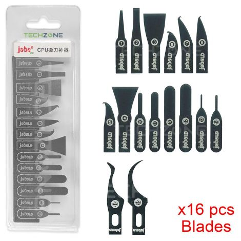 IC Chip CPU NAND BGA Remover 14 Set Thin Blade Knife for Mobile iPhone Repair