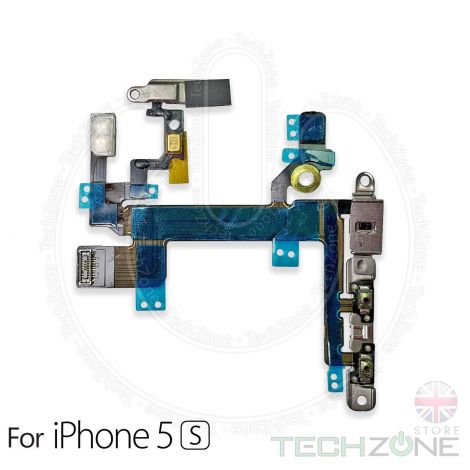 Volume Button Power Flex Mute Switch and Flash With Metal Brackets for Apple iPhone 5S