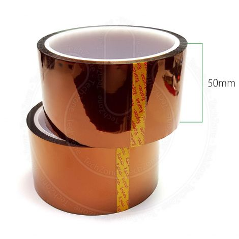High Temperature Heat Resistant Kapton Polyimide Tape for BGA SMD Mobile Repairs Soldering [Width 50 mm, Length 33 m]