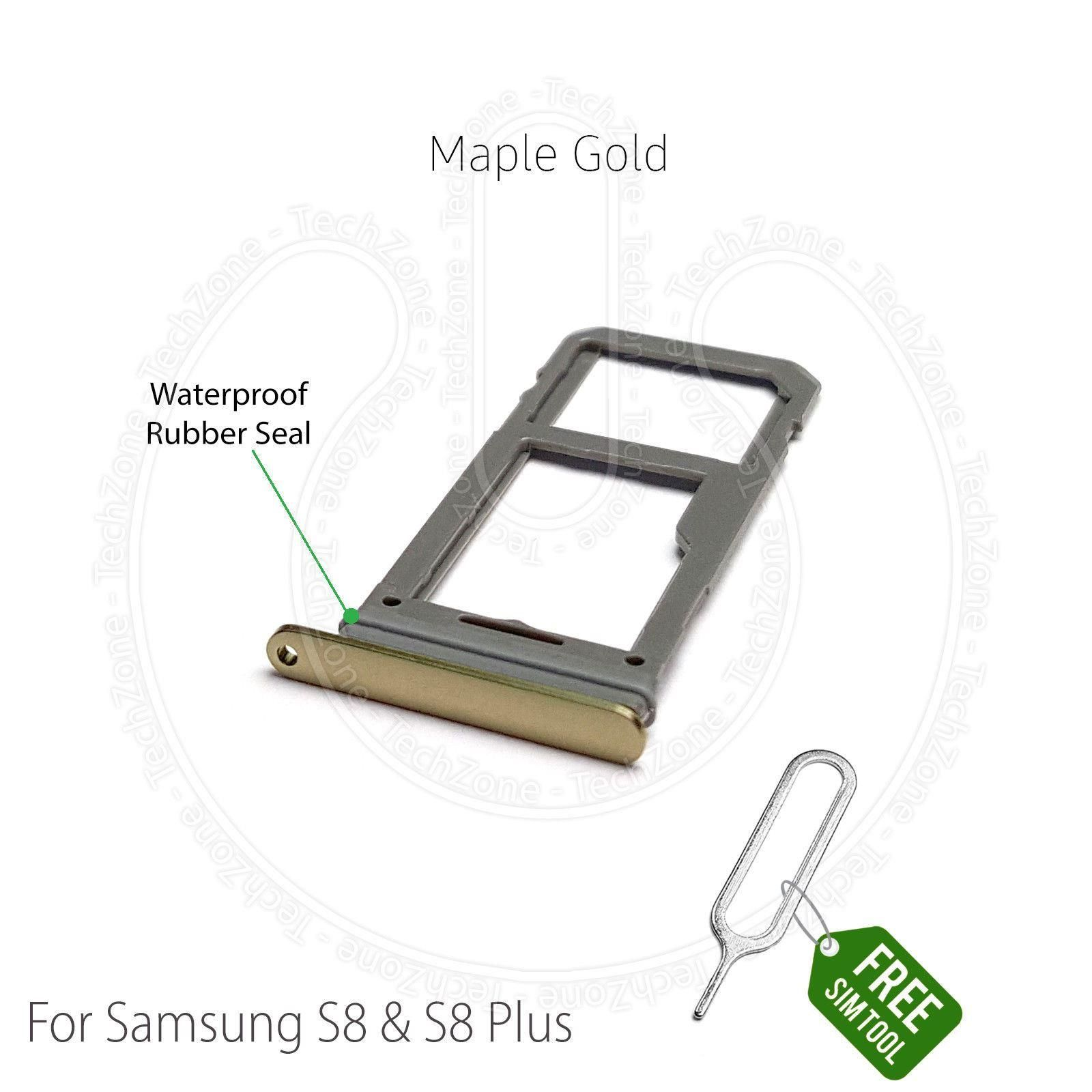Samsung Galaxy S8 Sim Karte.Sim Card Sd Tray Holder For Samsung Galaxy S8 G950f S8 Plus G955f Maple Gold