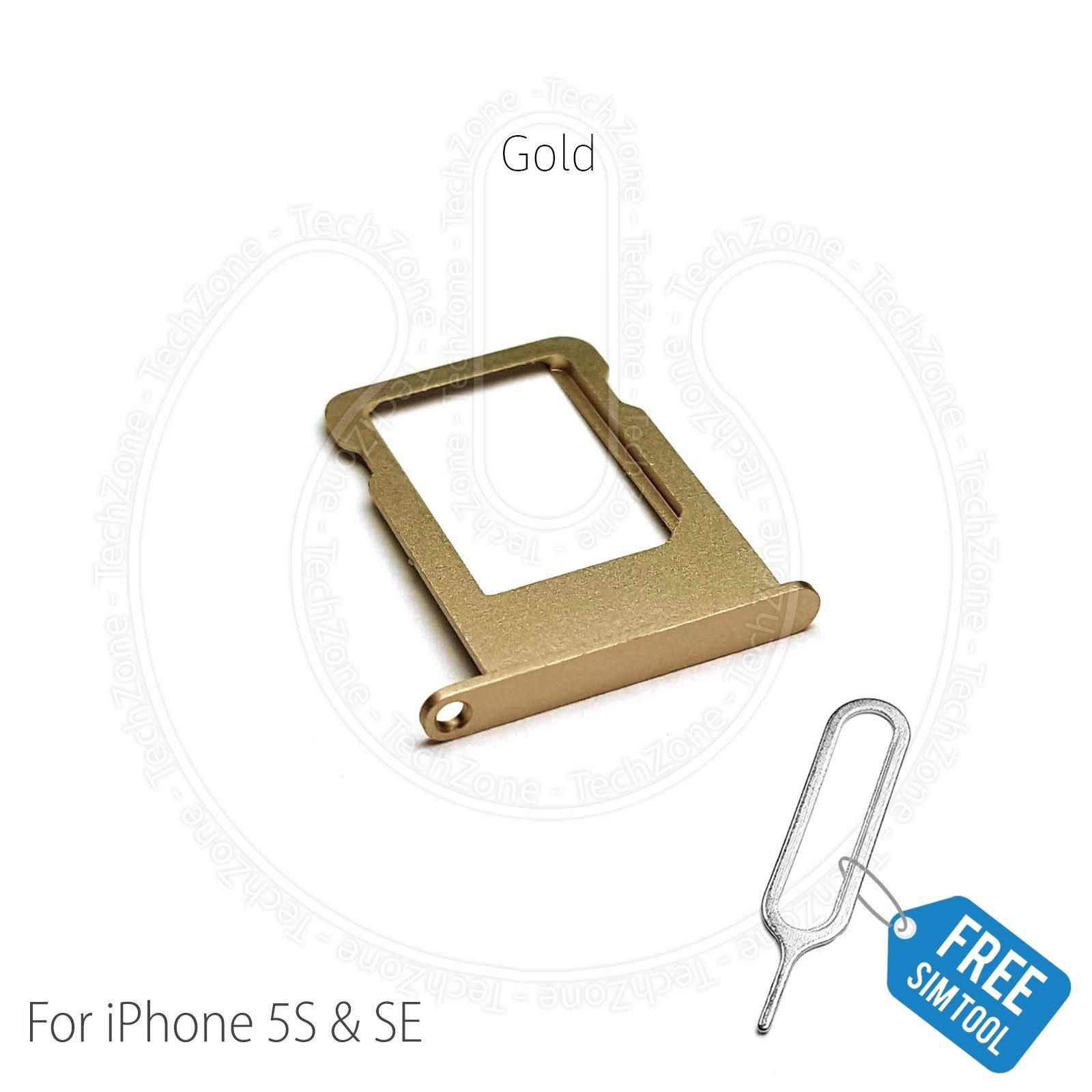 huge discount 8db96 e29b4 Replacement Nano Sim Card Holder Tray Slot for Apple iPhone 5s & iPhone SE  Gold with Sim ejector tool