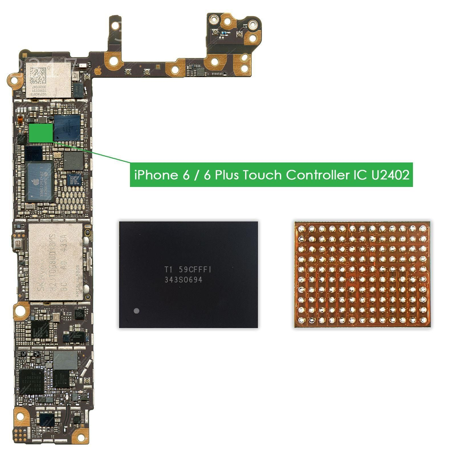 Lot of iPhone 6 /& iPhone 6 Plus Black Touch IC Chip Controller U2402 343S0694