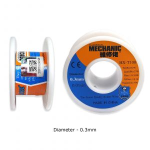 MECHANIC Tin Lead 63/37 Sn Pb Flux Cored Thin Soldering Solder Wire for SMD PCB [0.3 mm,55 g]