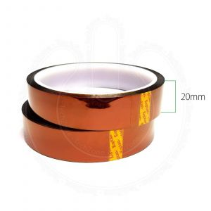 High Temperature Heat Resistant Kapton Polyimide Tape for BGA SMD Mobile Repairs Soldering [Width 20 mm, Length 33 m]