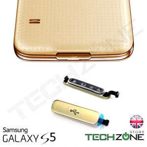 Samsung Galaxy S5 i9600 G900 USB Charging Port Cover Dust Waterproof Cover Gold