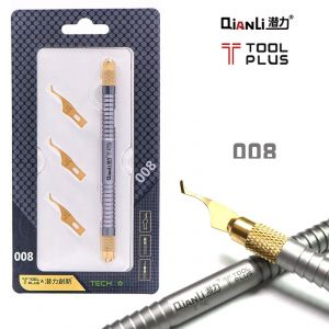 QIANLI Underfill Glue Cleaner with 3 cold steel Blades for iPhone BGA IC Repair