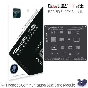QianLi ToolPlus 3D Black Direct Heat Stencil for iPhone 5S Communication Base Band Module